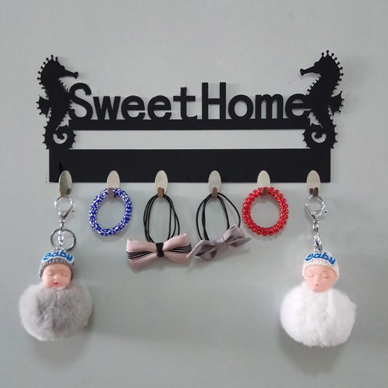 Nuevo suspensión de acrílico para llaves Ganchos de pared Rieles Dulce Hogar acrílico Ganchos en la pared Abrigo decorativo Decoración para el hogar