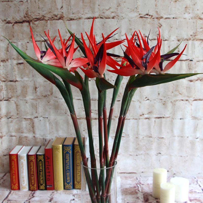 Искусственный рай птицы Моделирование Поддельный цветок Real касания для размещения декора стены принадлежности домашнего офиса настольные украшения