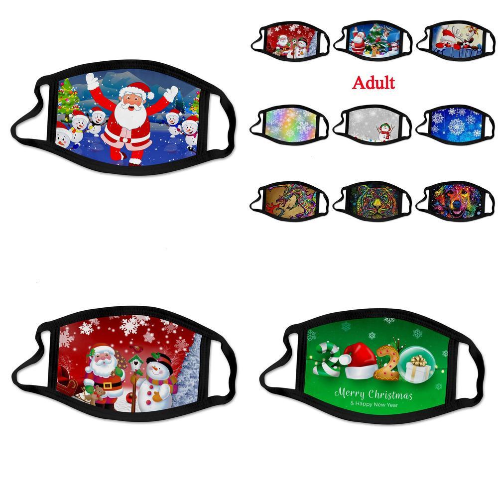 Factorycus8santa Год Claus Print Xmas Рождество Новые Маски Животные Мода Детские Хлопок Дышащие Моющиеся Удобные S