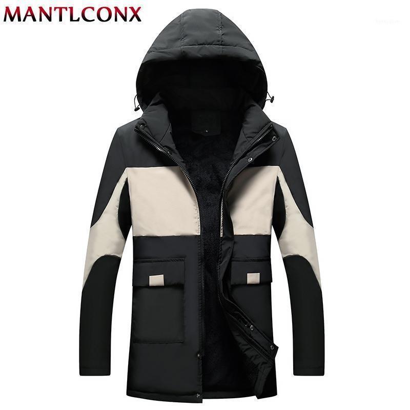 Mantlconx سترة الرجال الشتاء سميكة الصوف أبلى الرجال جاكيتات زائد الحجم 4xl windbreak سترة المخملية معطف دافئ الشتاء الملابس 1