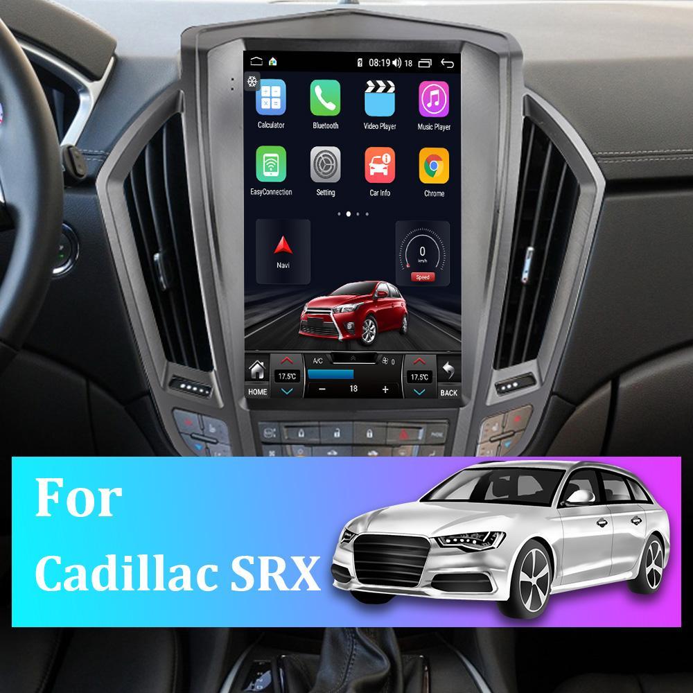 12 pollici per Cadillac Srx Portrait Car GPS Navigator Android 10 Mappa Sat Navcar Stereo FM Radio Bluetooth Player multimediali