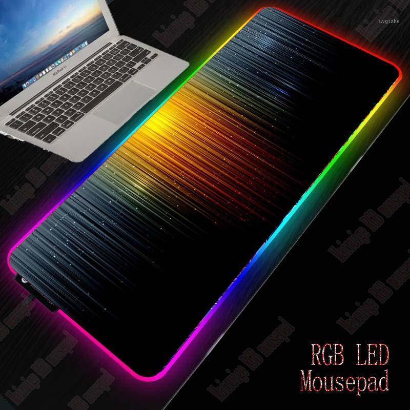 XGZ Абстрактные игровые RGB большие мыши PAD Gamer большой коврик для мыши компьютера для мыши Mousepad светодиодная подсветка XXL Maause Pad набор клавиатуры MAT1