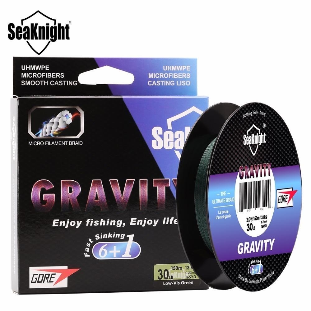Saknight Gravity 7 Strands 150m Pesca Fast Hunding Braidy Smooth Multifilament PE 20 25 30 40lb Línea Fregadero 201118