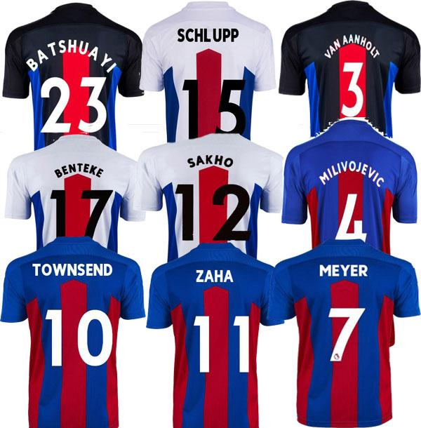 Hommes + enfants 20 21 Jerseys de football 2020 2021 Zaha Milivojevic Townsend Sakho Benteke Batshuayi Chemises de football Uniformes Thaïlande