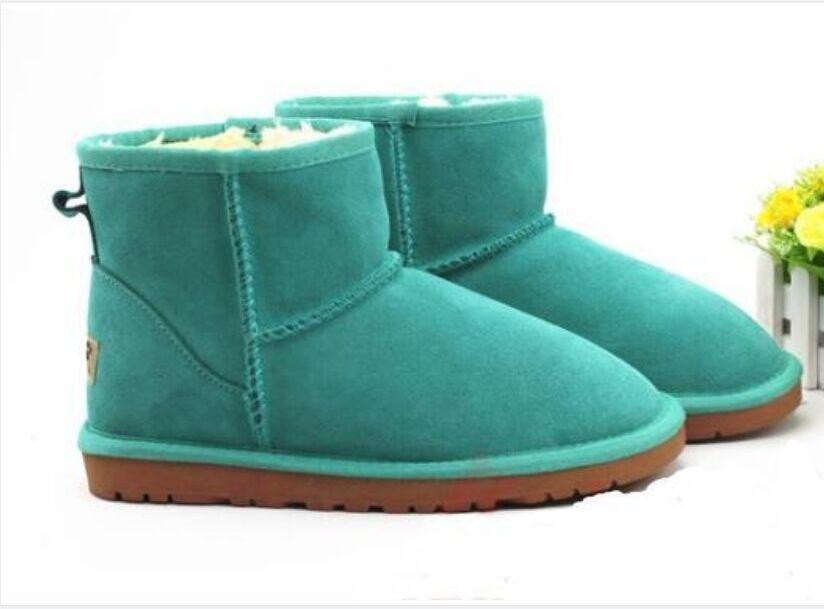 Stivali da neve in pelle da donna classica di alta qualità 5854 Brand Brand Winter Stivali corti in cotone scarpe imbottite in cotone