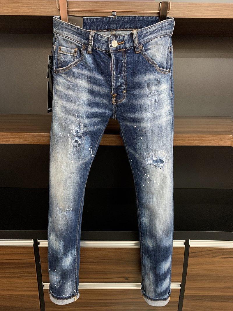 2020 Neue Marke der modischen europäischen und amerikanischen Männer Lässige Jeans, hochwertiges Waschen, reines Handschleifen, Qualitätsoptimierung LT9620