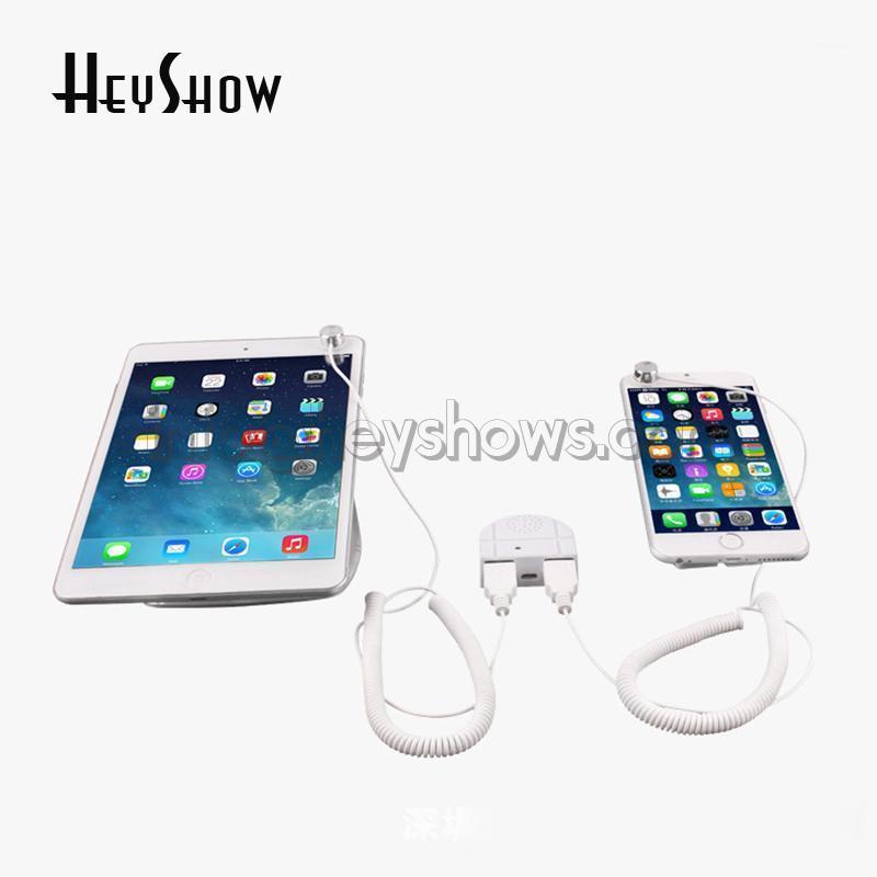 Alarmsysteme 2 In1 Universal Telefon Sicherheitsständer Mini Tablet Einbrecher PC Displaysensor Kabel Anti Diebstahlbox SEGURIDAD1