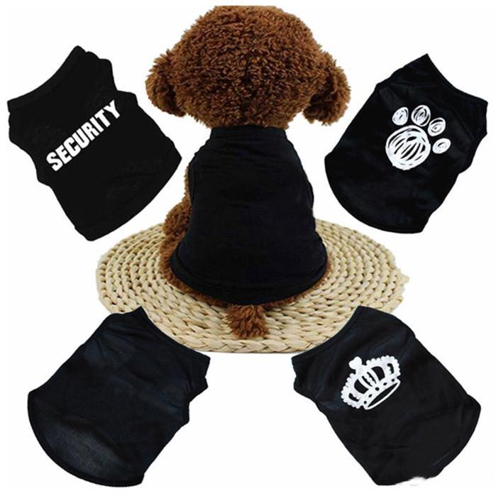 Summer Dog Abbigliamento Abbigliamento Abbigliamento Cat Gilet Small Maglione PET Fornitura Cartoon Abbigliamento T Shirt per cucciolo Chihuahua Tuta a buon mercato Outfit YHM186-1