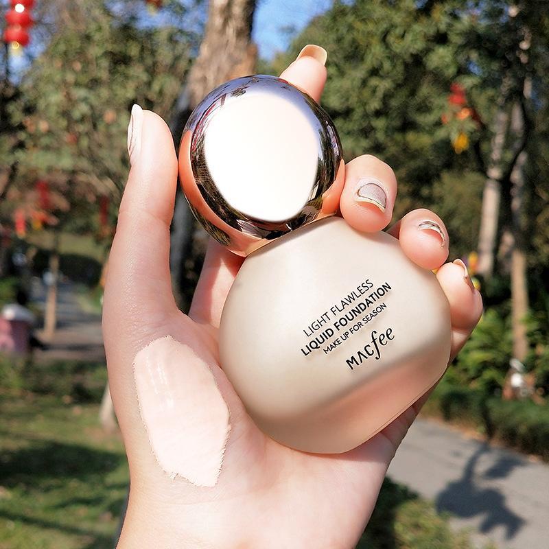 MACFee Petite ampoule de la légère ampoule Fondation hydratante Hydratant contrôle durable maquillage invisible Pores invisible Pores hydratant Base de base hydratante