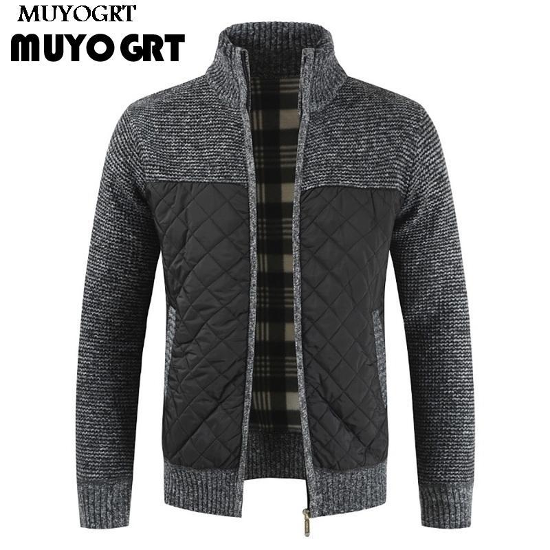 LAAMEI 2020 erkek kazak sonbahar kış sıcak örme kazak fasion ceketler hırka mont erkek giyim rahat triko
