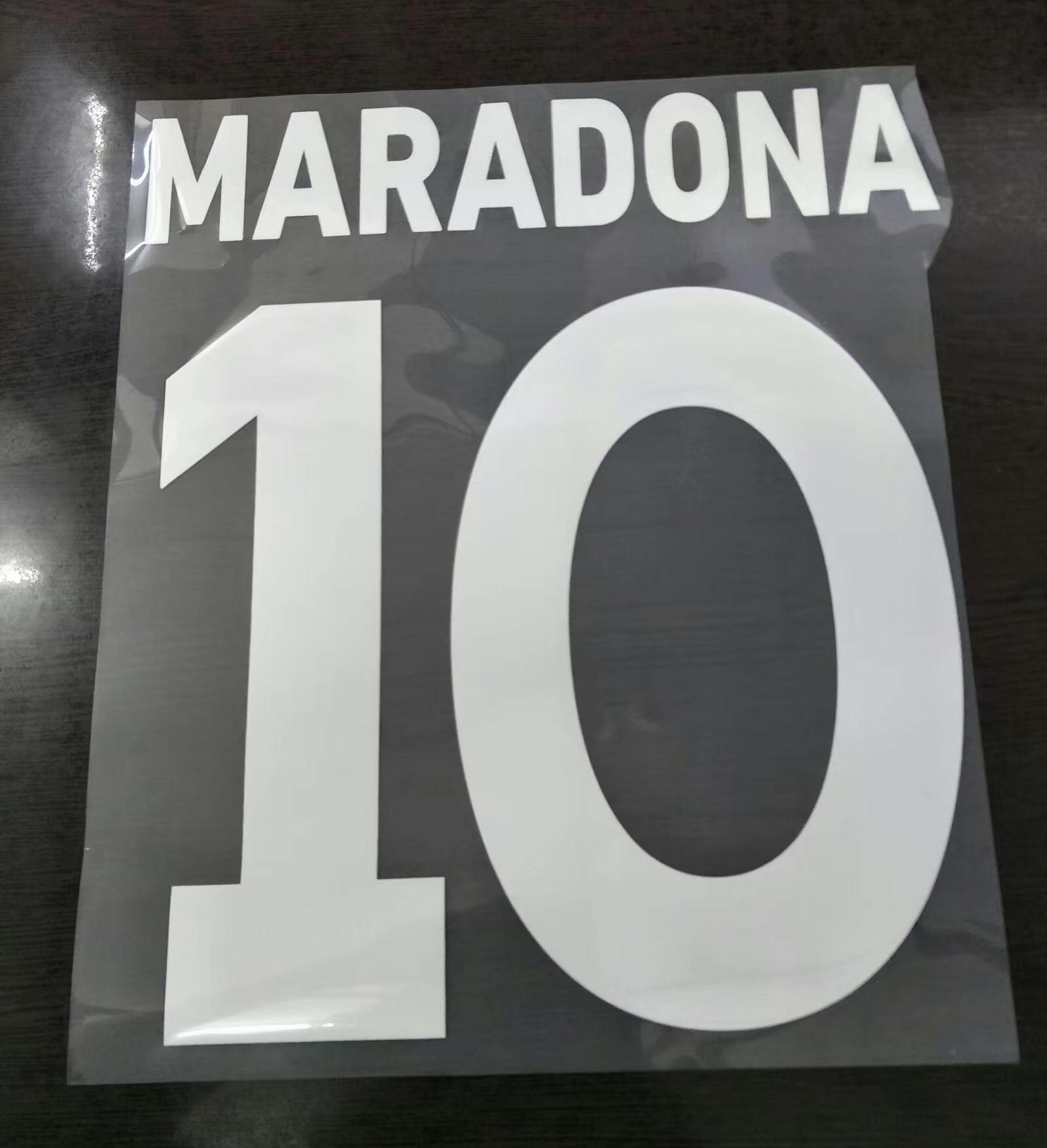 Maradona Футбольная диспетчер Имень Имень A-Z Номер 0-9 Printng Футбольный шрифт
