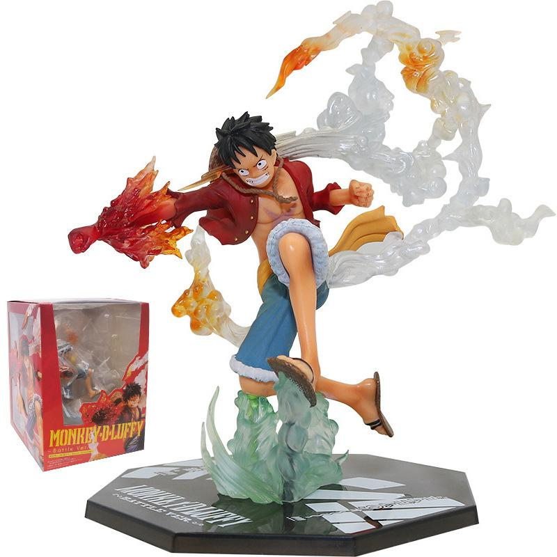 Anime Tek Parça Figürü Yangın Yumruk Luffy Ace Heykelcik Roronoa Zoro Aksiyon Figürleri Diyeboz Jame Sanji PVC Koleksiyon Model Oyuncaklar Q1217