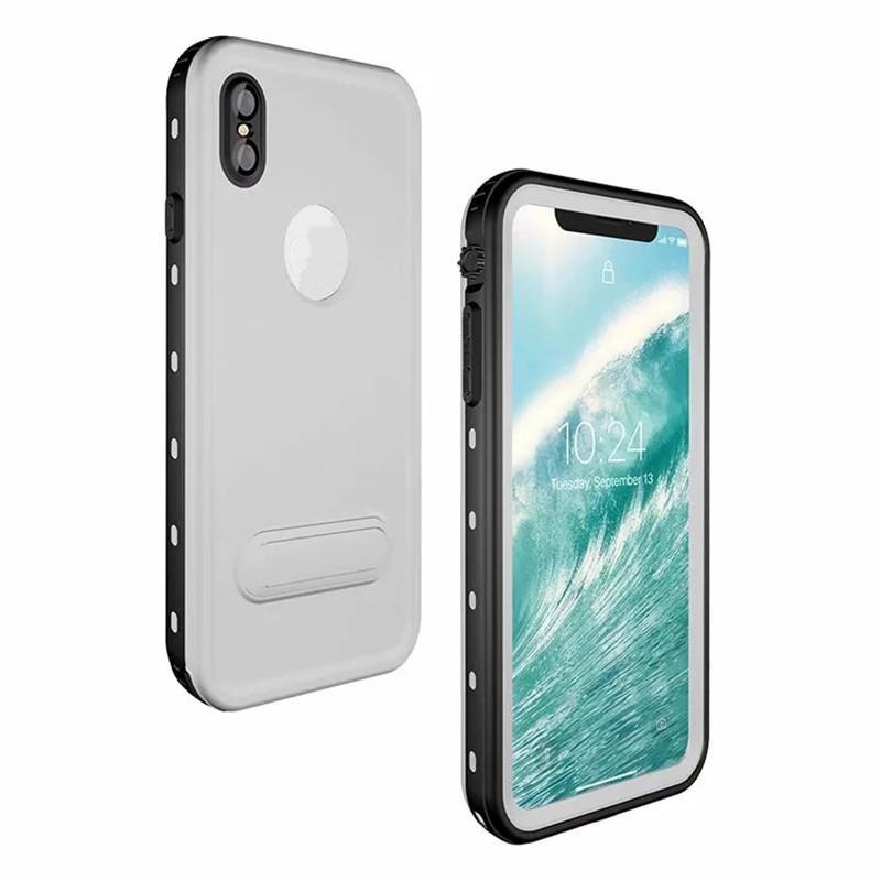 العالمي للماء chelbox redpepper dot الحالات الهاتف ل iphonexs xr ماكس الدائمة المسند القدمين الغطاء الخلفي الصدمات