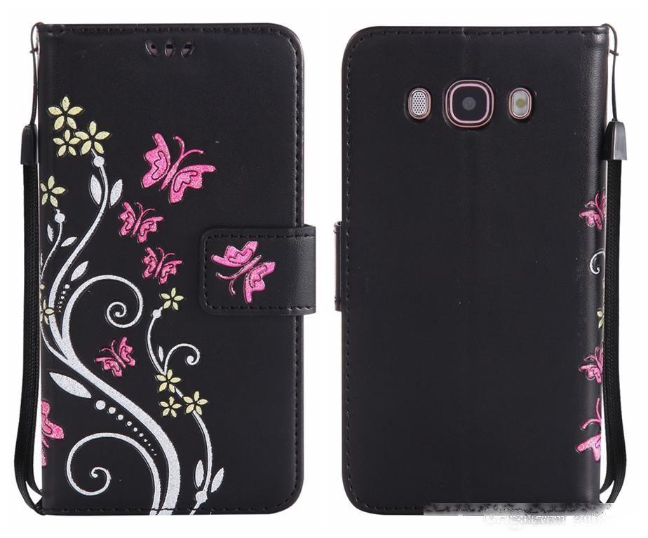 Flip Cover for Samsung Galaxy J5 Prime Funda de lujo Tarjeta de billetera de lujo Flor colorida para Galaxy J5 J510 2016 J530 2017 Caso