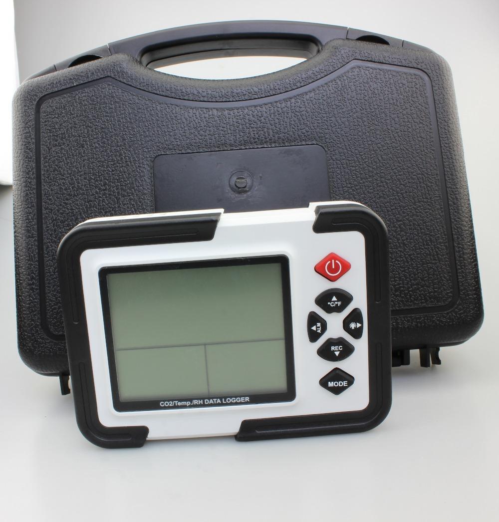 Freeshipping Desktop DATA DATA DATA DATA LOGGER GAS DI GAS ANALIZZATORE Monitor LCD / PC Dioxide Air Temperatura Air Temperatura Misuratore del registratore di umidità