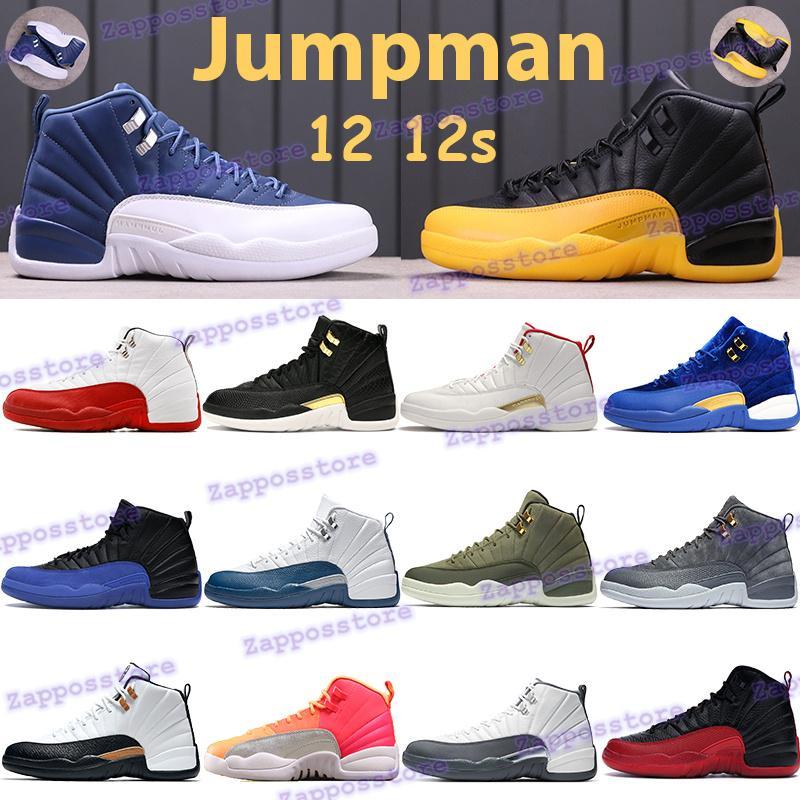 Jumpman 12 12s Баскетбольная обувь Вишневый университет Gold Cny Indigo Французский синий плей-офф тренажерный зал красный овоя черный белый Bordeaux мужские кроссовки