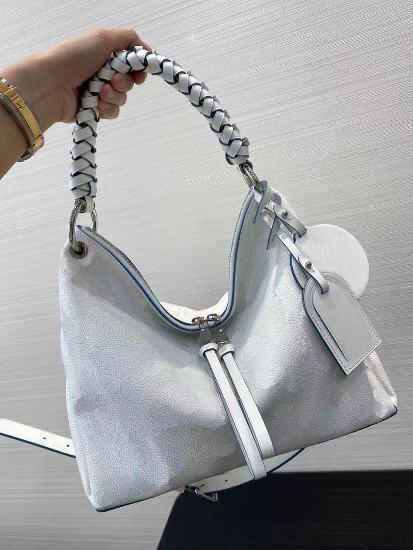 BEAUBOURG MM HOBO BAG women perforated calf leather purse tote canvas genuine calfskin silver hardware handbag strap shoulder bag with charm