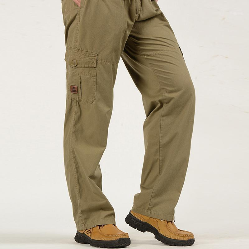 Hommes Cargo Pantalons Elastic Grande poche Pantalon Mâle Pantalon Joggers en plein air Pantalon Pantalon Jogger Pantalon Lâche Harajuku Hommes Pants1