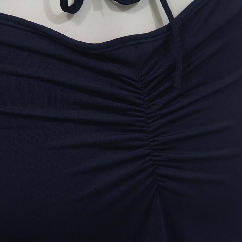 Womens Ashion DressNightClub Sexy Black Sling Backless Strap Vestido Z07L