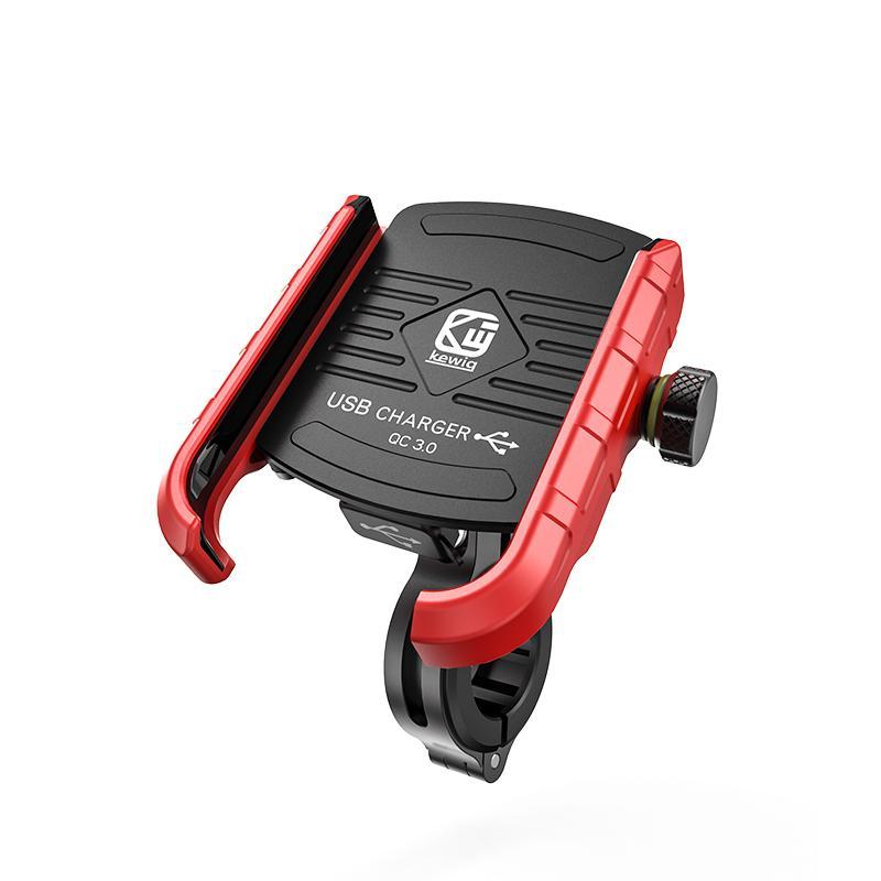 M8 alluminio moto lega il supporto del telefono Con QC3.0 USB di ricarica rapida ° Rotazione Moto mobile Staffa telefono 360