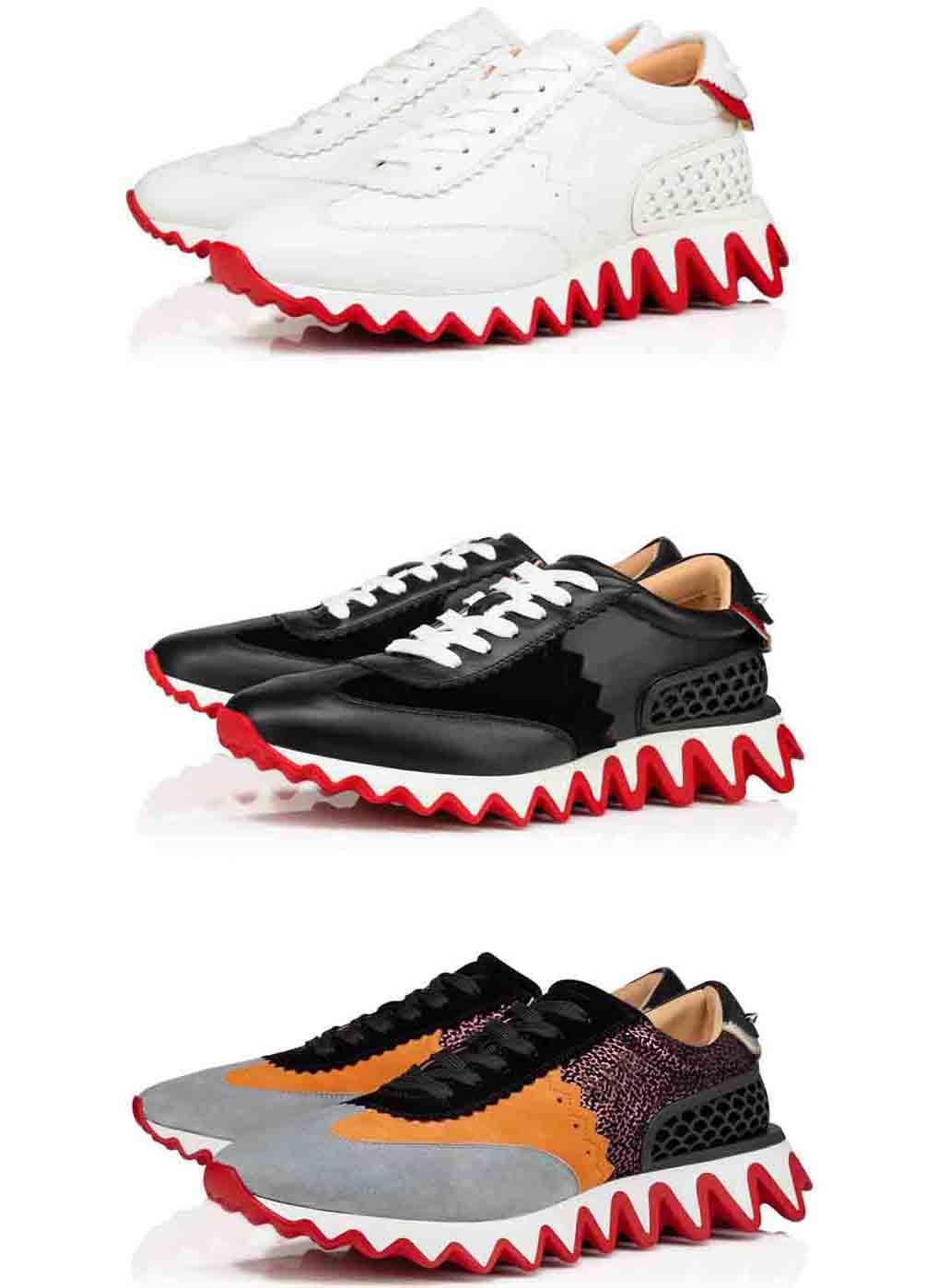 """New Style Rote Sohlen Gezackt Stil, Luxurys Dessings Herrenschuhe Rote Bottom Sneakers """"Louisharksdonna"""" Flache rote Sohlen Schuhe Kleid zu Fuß"""
