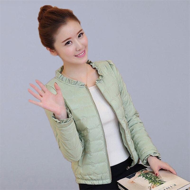 Autumn Winter Short Basic Jacket Women Casual Coats New Fashion Korean Style Slim Thin Cotton Parkas Ladies Outerwear Coats P136 201211