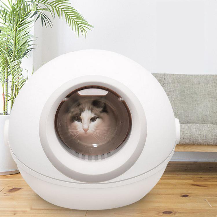 القط القمامة مربع مغلقة بالكامل قطة كبيرة مزروعة الروائح الروائح ورش البراز حوض الحيوانات الأليفة لوازم السرير حصيرة