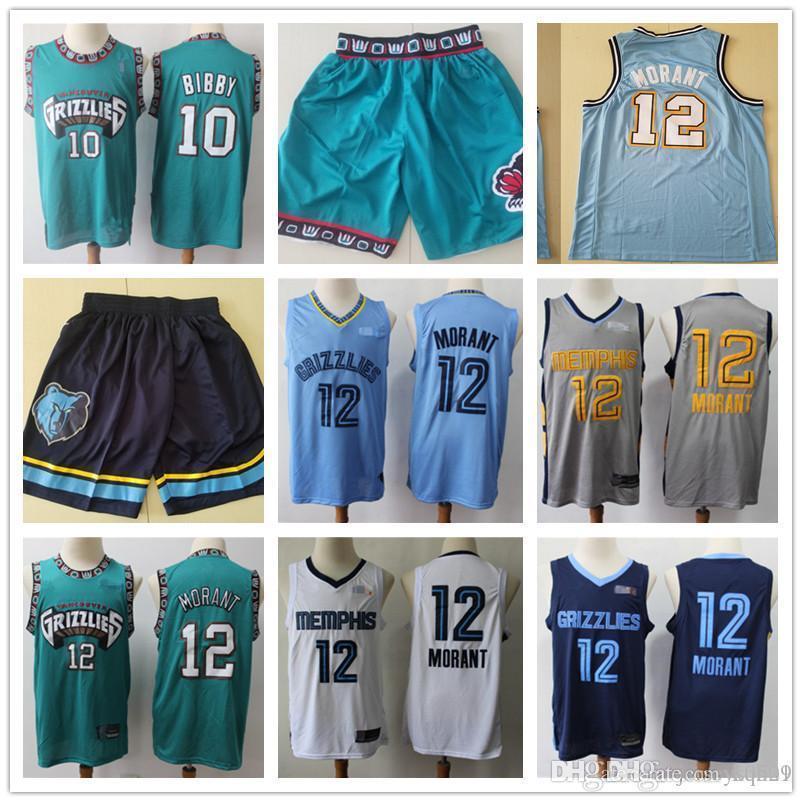 Mens MemphisGrizmaGerileme Jersey Bryant 50 Reeves Mike 10 Bibby JA 12 Ahlaki Basketbol Şort Basketbol Formaları Yeşil Mavi