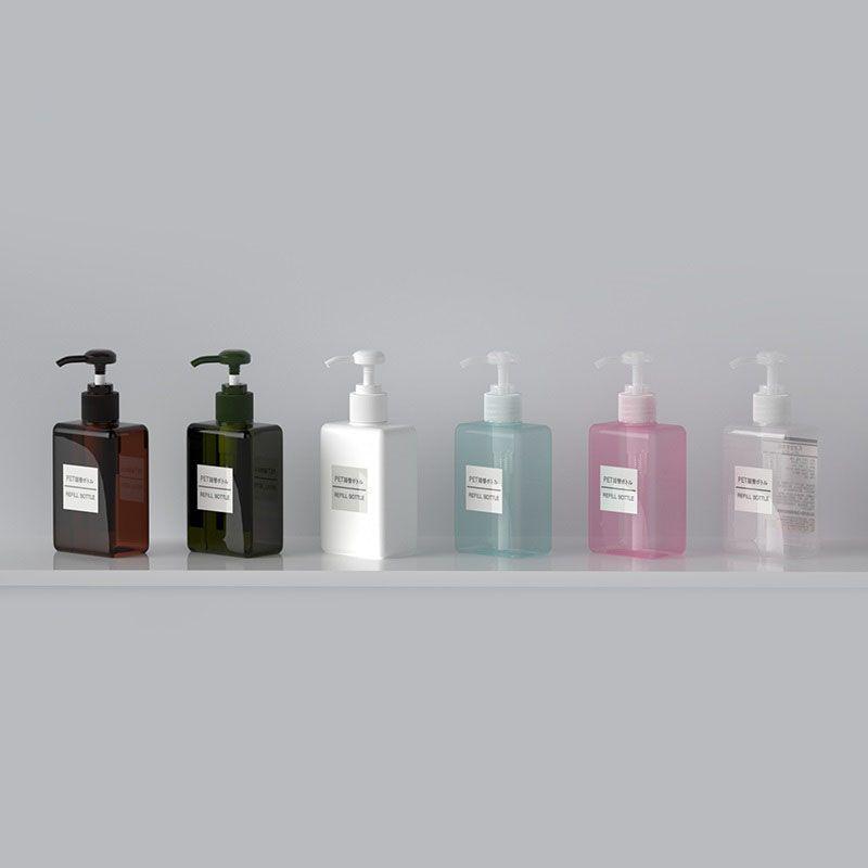 ¡Caliente !! Botella de recarga (12pcs / lot) 100ml Tornillo vacío Emulsión Botella Botella 100 CC Shampoo Ducha Embalaje
