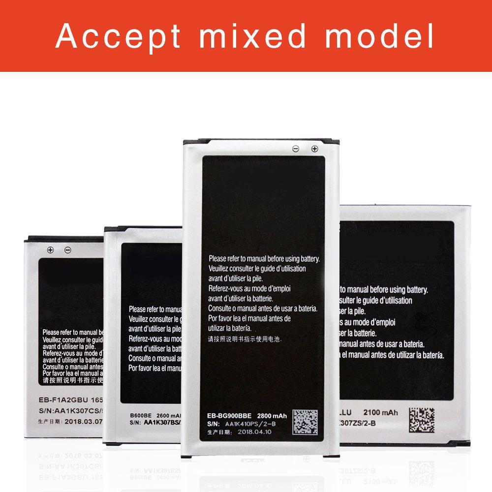 لسامسونج غالاكسي s2 s3 s3 s4 أعلى جودة oem استبدال البطارية EB-F1A2GBU EB-L1G6LLU B600BU EB-BG900BBU Batteria الشحن السريع