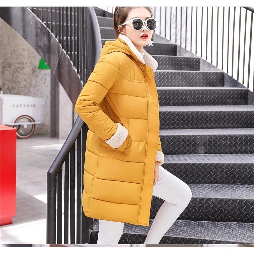 Новые Parkas женские женщины зимнее пальто утолщение хлопка зимняя куртка женские туалеты парки для женщин зимний длинный с капюшоном 201210