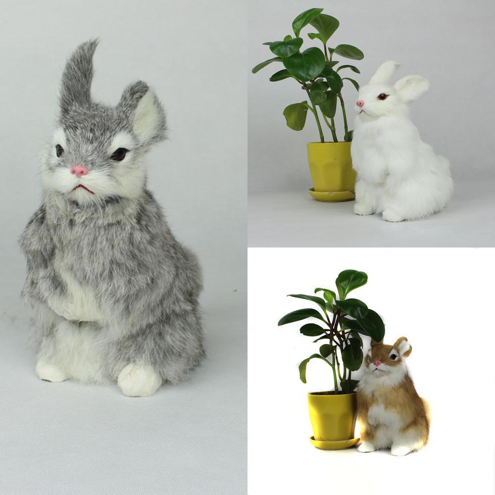 Toys farcis Simulation LoveleLike Poupée Animale de lapin Peluche Jouet Jouet Enfants Décorations Anniversaire Cadeau d'anniversaire pour enfants Y1209