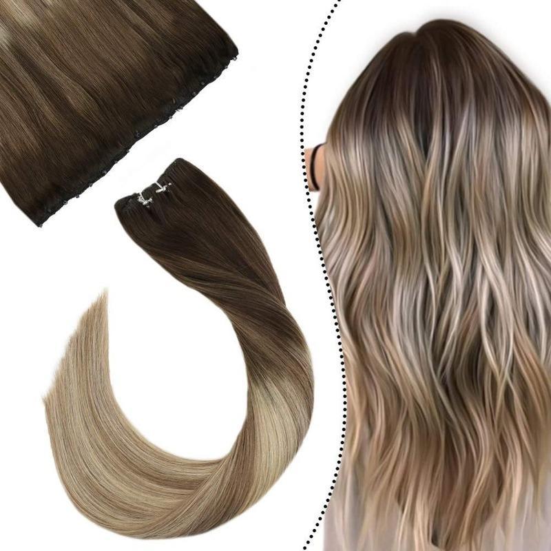 """Micro Bead Trama extensões de cabelo humano 12 """"Largura 14-24"""" máquina de cor loira de cabelo humano cabelo cabelo fácil 50g"""