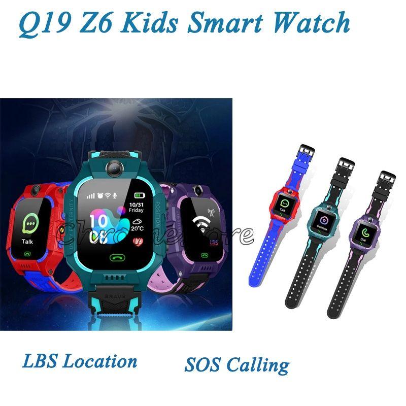 Universal Q19 Kinder intelligente Uhren SOS Notrufe Anti Lost Children Tracker Support SIM-Karte LBS Standort Z6 SmartWatches