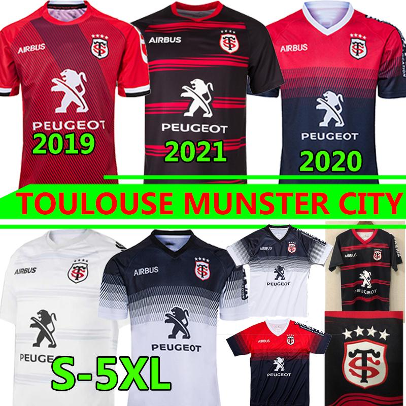Toulouse Munster City Rugby Jerseys 2021 New Home Away 2020 Stade Toolousain 2019 League Jersey Lentulus قميص الترفيه التدريب الرياضي S-5XL