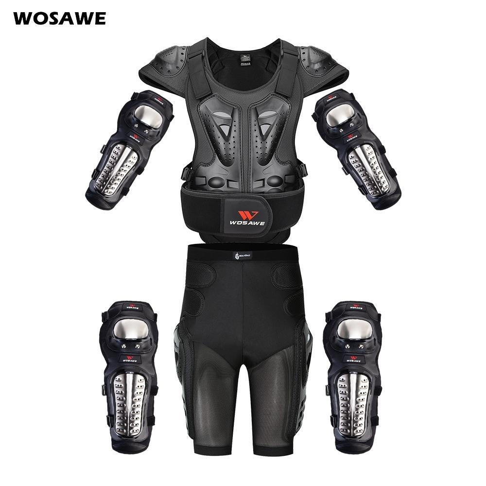Wosawe Motorcross Back Protector Patinagem de Neve Body Armor Motorcycle Spine Guard Moto Jaqueta Kneepads Elbow Guard Moto Armor Z1128