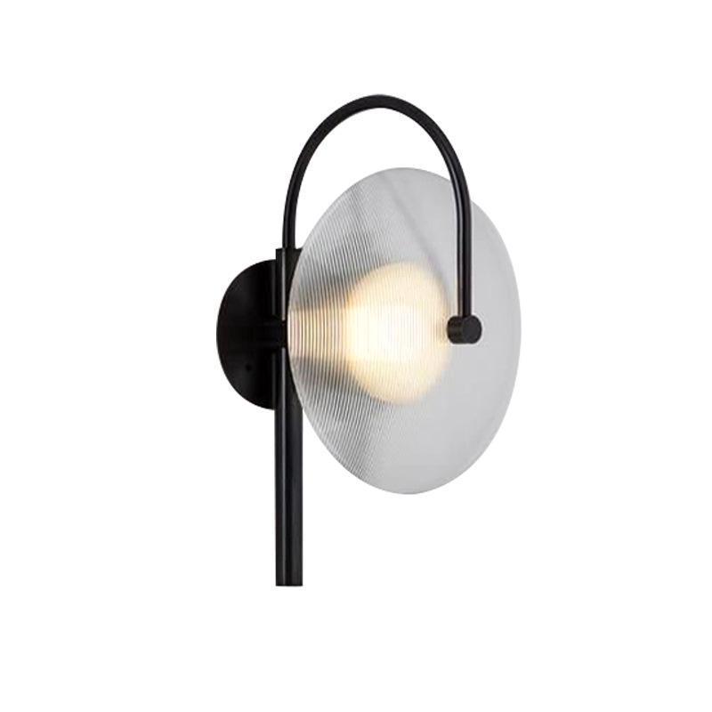 Modern wall lamps for bedroom white or balck color for living room bedside decoration Aisle wall light corridor hotel lustre led