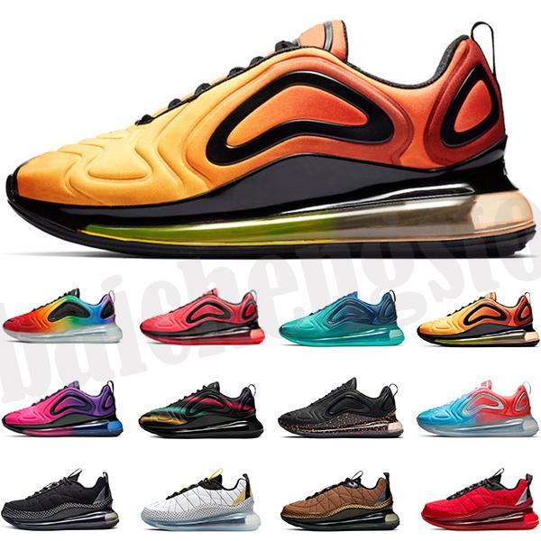أعلى 720 بينغ رجل مصمم الأحذية السرية الأصفر يكون صحيح قزح شبكة الثلاثي أسود أبيض وردي البحر شروق الشمس الرجال النساء الرياضة تشغيل أحذية رياضية