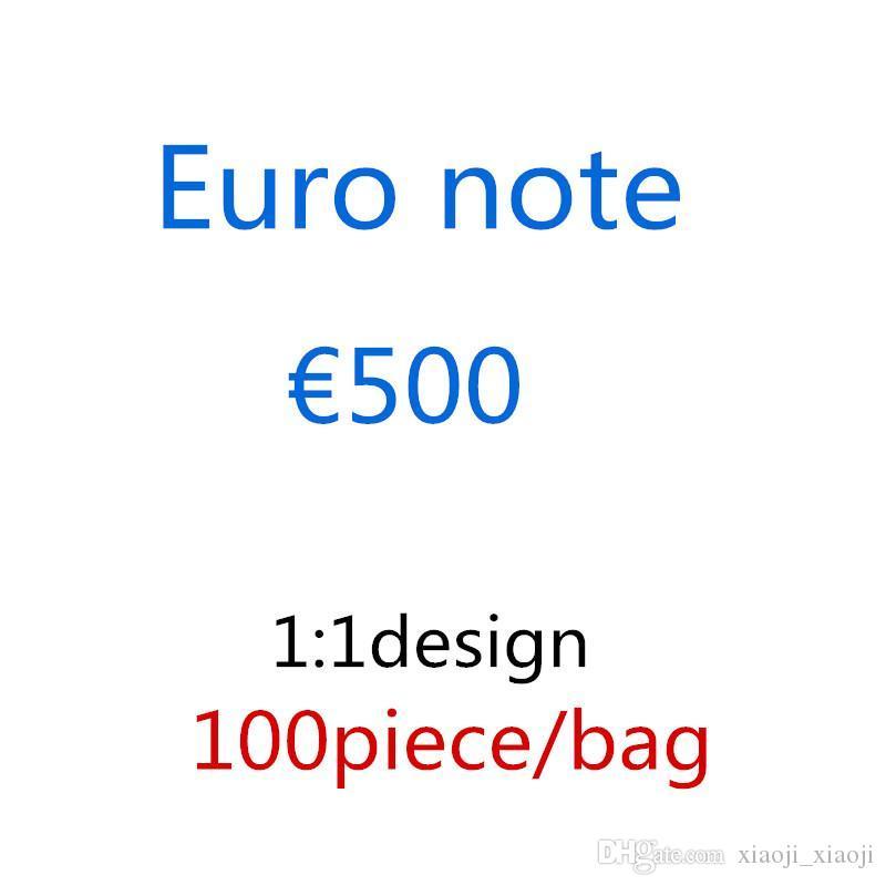 Billets de billets PROP Copier 500 jouets pour Euro Best Enfants Money's Money's Money's Tool d'apprentissage Jeux Jouets Vidéo Video Films 11 Stfum