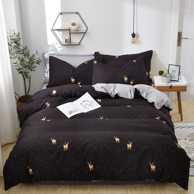 Ensembles de literie de luxe Cat Star Star de chat Avocado Couvre-lit Housse de couette + Feuille plate + Taie d'oreiller Couvre-couvre Couverture Couverture pour enfants Adult1