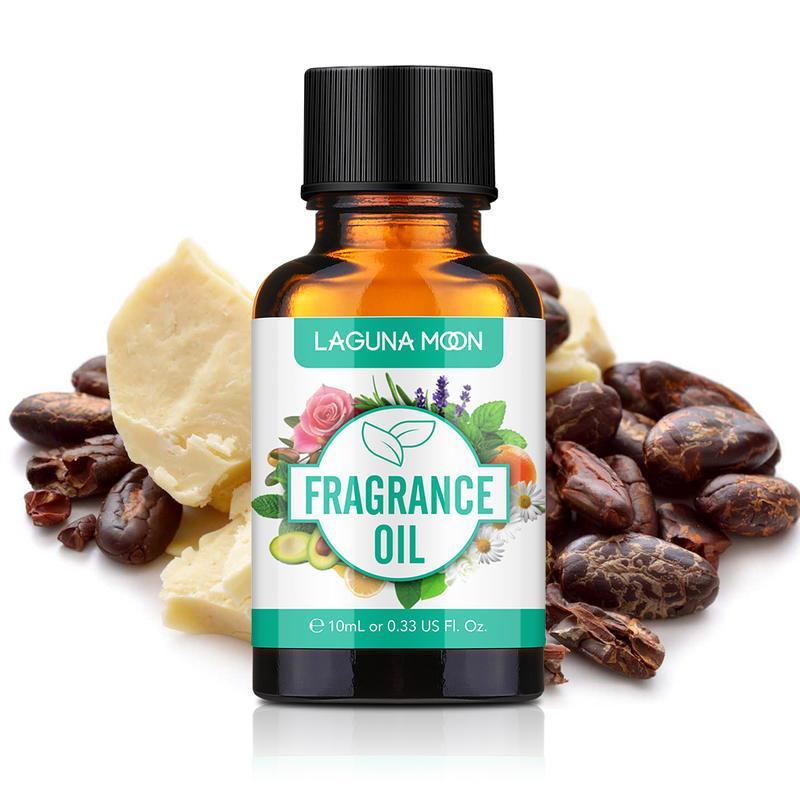Lagunamoon 10 ml cacau manteiga fragrância óleo corte grama licorício eucalipto cânfora oli para sabão de vela fazendo perfume ar fresco