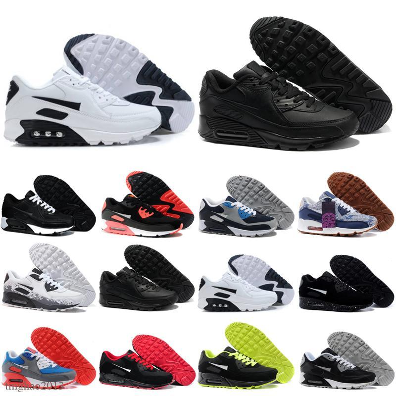 2021 Grossistes Mode Hommes Sneakers Chaussures Classique 90 hommes et femmes Chaussures de course Sports Trainer Coussin 90 Surface Sports Sports Sports