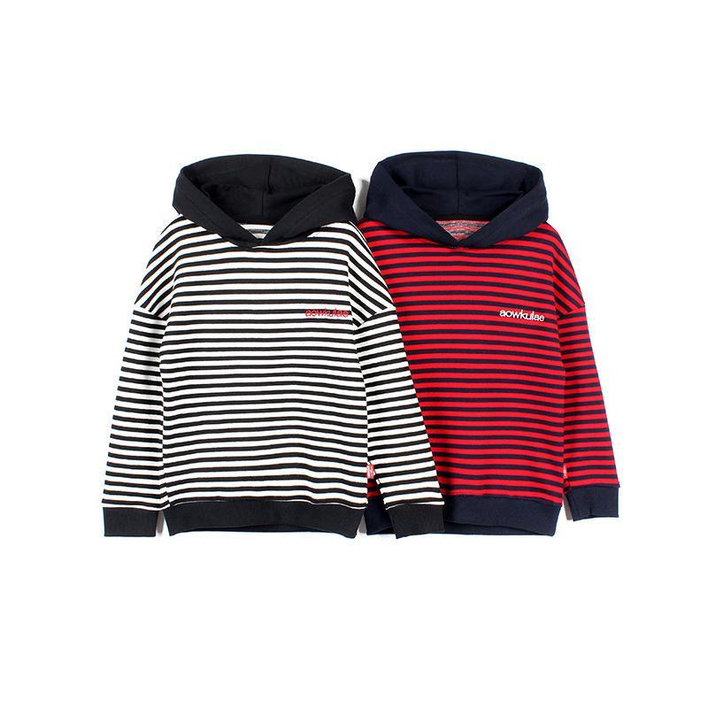 Enfants coréens garçons Sweats à Sweats à capuche tricotés à Sweat à sweat à hochet Toddler Pull à manches longues Sweatshirts Teenage Mode Hoodie Y1216
