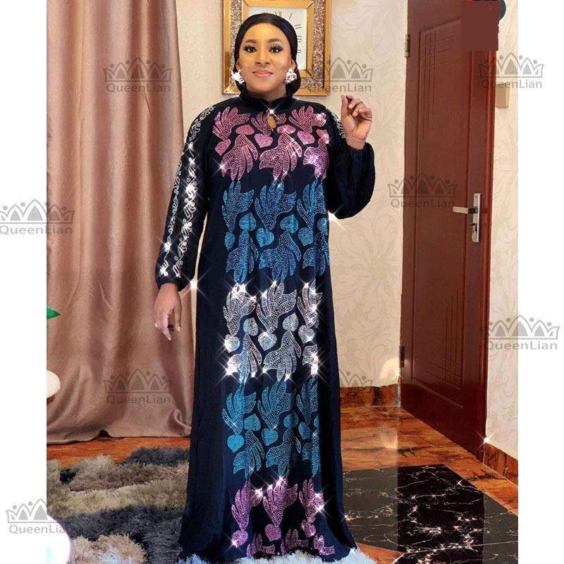 2020 новый негабаритный африканский свободный дизайн алмазное платье для леди (glzuan1 #) q1205