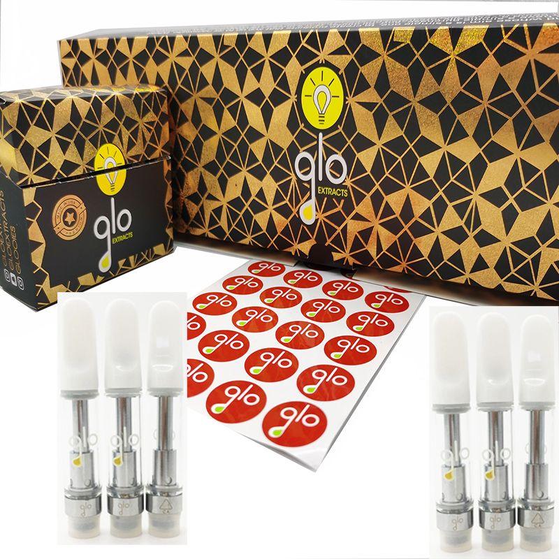 GLO Vapes Cartridges Packaging Vape Pen Ceramic Carts 510 Thread Oil Vaporizer Vape Kit Thick Oil Atomizer 0.8ml-1.0ml Instock ECig Carts