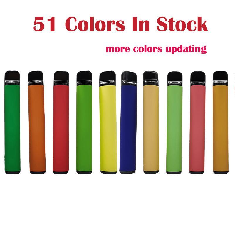 51 couleurs jetables Vape Stylo 800 Puffs Plus 3.2ml Batterie de Vape E Cigarettes Kits de démarreur E CIGS Vaporisateurs Atomiseurs Custom Custom Fabriqué vide