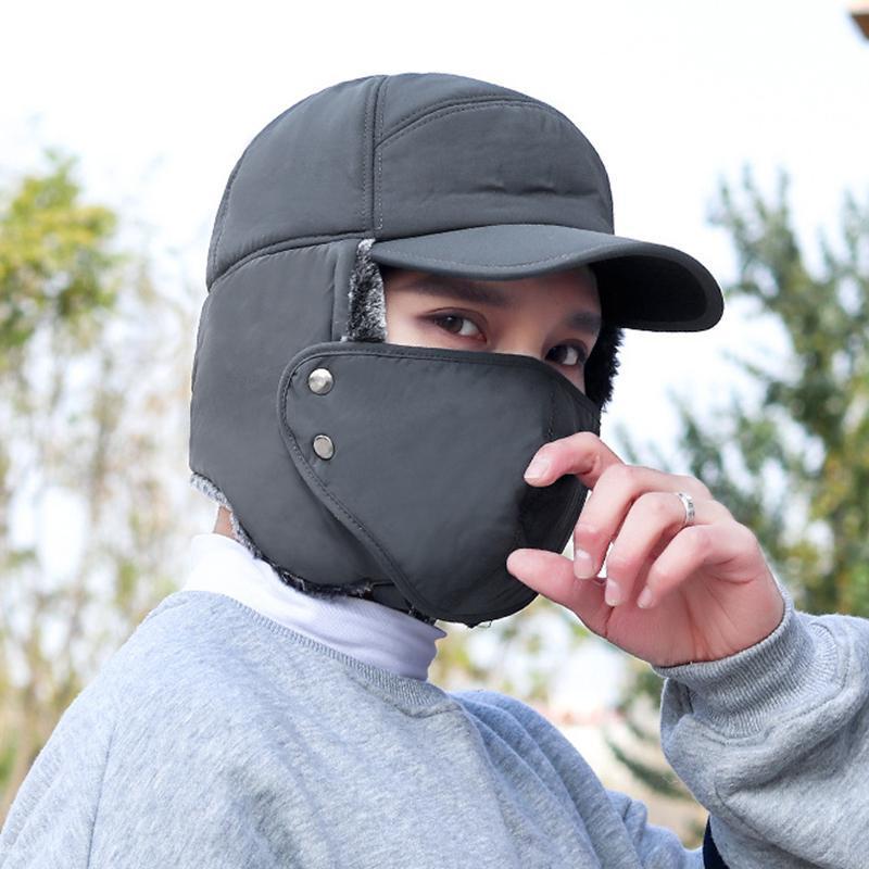 Cyclisme en plein air froid Preuve d'oreille chaud Cap épaissie oreille chaud Chapeau d'hiver pour hommes CLH @ 8