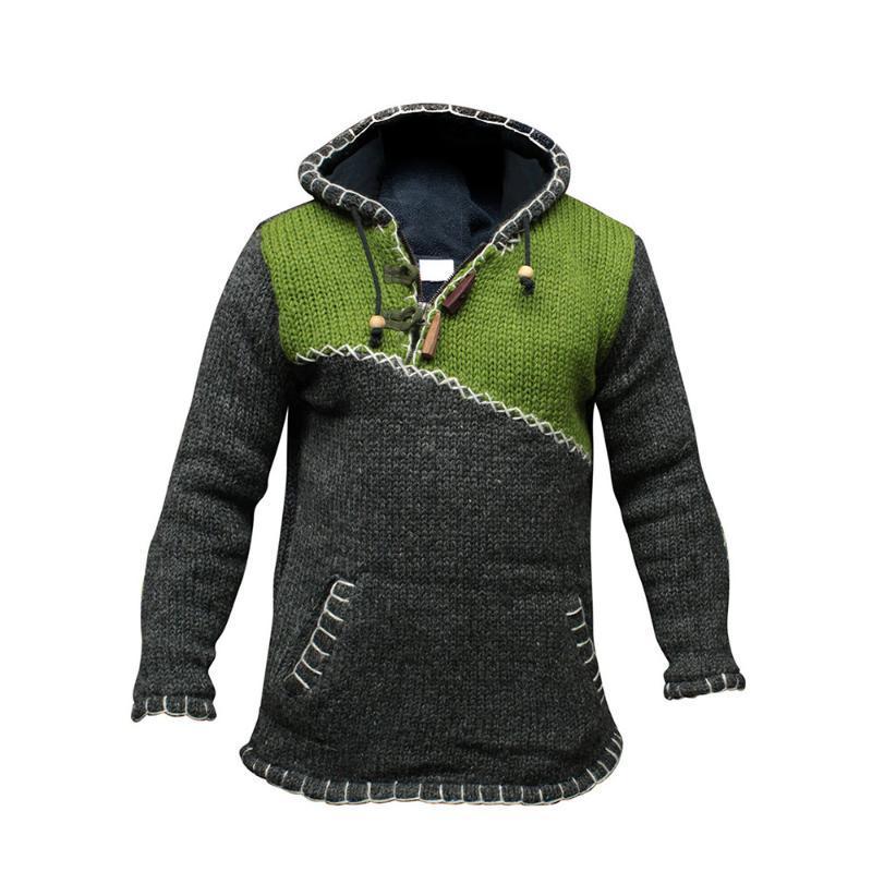 الرجال البلوزات عارضة الرجال البلوز هوديس اللون كتلة الدافئة سترة طويلة الأكمام مقنع خليط جيب الأزياء المعتاد فضفاض الخريف قصيرة