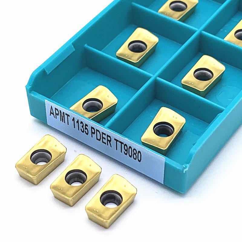 APMT1135 SPER TT9080 Carbide Inserir Lathe Milling Mill CNC Ferramentas Cortador