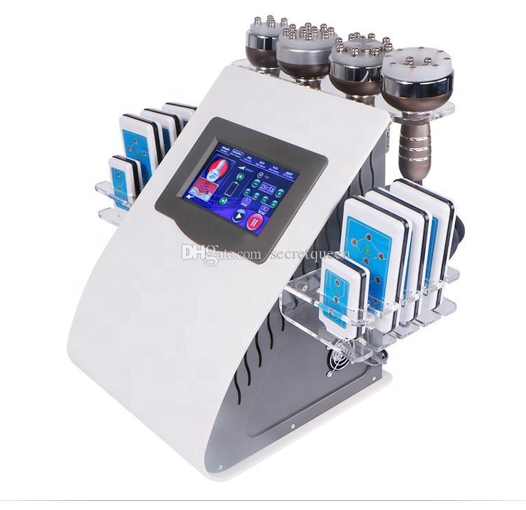최신 40K 초음파 Cavitation 기계 8 패드 지방 흡입 Lllt Lipo 레이저 RF 진공 Cavi Lipo 슬리밍 스킨 케어 살롱 스파 장비